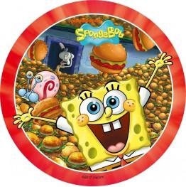 Opłatek na tort SpongeBob-Nr 7-21cm
