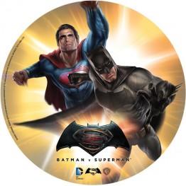 Opłatek na tort Batman i Superman-Nr 1-21cm