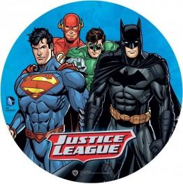 Opłatek na tort Batman i Superman-Nr 2-21cm