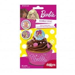 Jadalne naklejki cukrowe-Barbie-16 sztuk