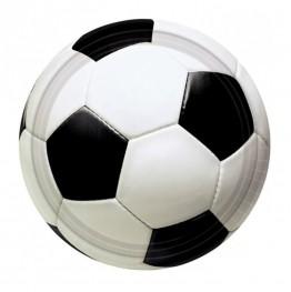 Talerzyki Piłka Nożna-3D-17cm-8 sztuk