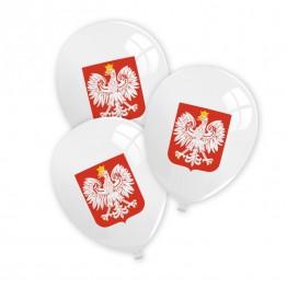 Balony Polska Godło-12 sztuk
