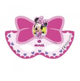 Maski urodzinowe-Myszka Minnie-6 sztuk