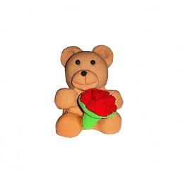 Figurka na tort-Miś z kwiatami-Modecor
