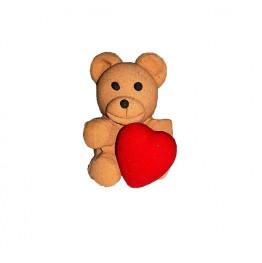 Figurka na tort-Miś z sercem-Modecor