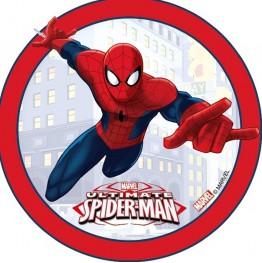 Opłatek na tort Spiderman-19-21cm