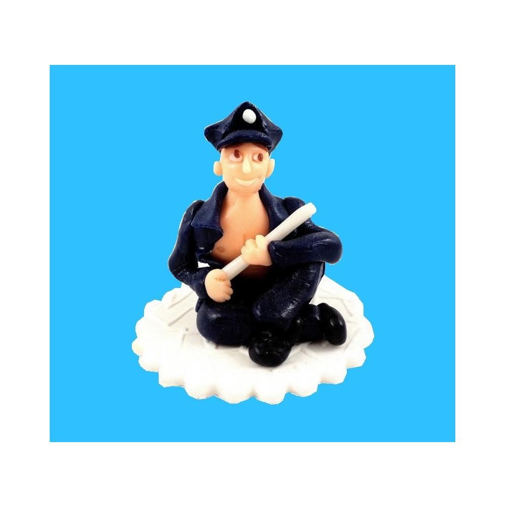 Figurka na tort Policjant z okazji urodzin