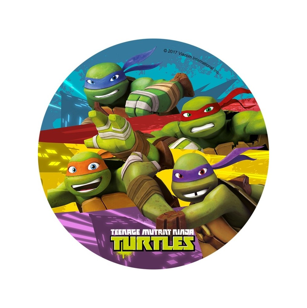 Opłatek na tort Żółwie Ninja-6-20cm