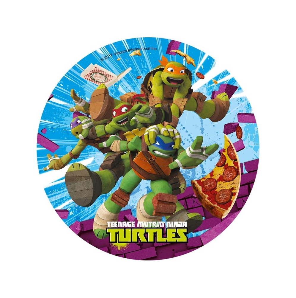 Opłatek na tort Żółwie Ninja-7-20cm