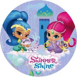 Opłatek na tort Shimmer&Shine-Nr 5-20cm