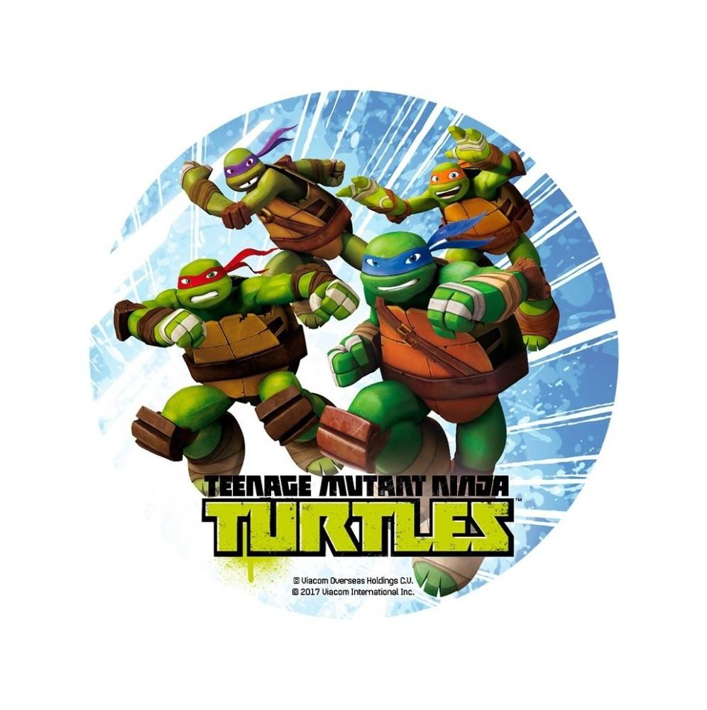 Opłatek na tort Żółwie Ninja-8-20cm