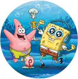 Opłatek na tort SpongeBob-Nr 8-21cm