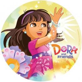 Opłatek na tort Dora-Nr 6-21cm