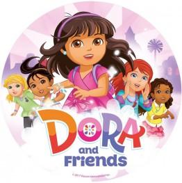 Opłatek na tort Dora-Nr 7-21cm
