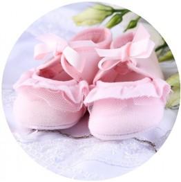 Opłatek na tort Buciki Różowe-1-20cm