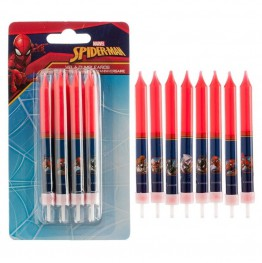 Świeczki urodzinowe Spiderman-8 sztuk