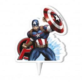 Świeczka urodzinowa na tort Kapitan America
