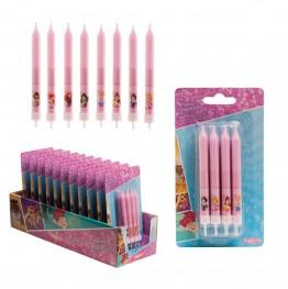 Świeczki urodzinowe Princess-8 sztuk
