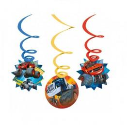 Dekoracja urodzinowa-wisząca-Mega Maszyny-6 sztuk