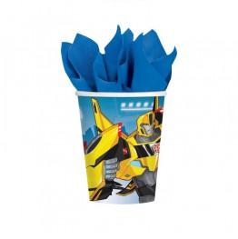 Kubeczki plastikowe Transformers-8 szt.