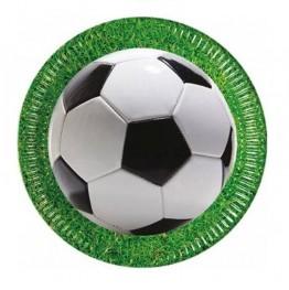 Talerzyki papierowe-Piłka Nożna-23cm 8 sztuk