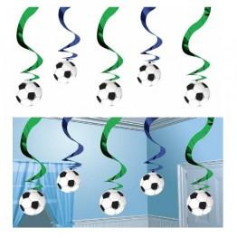 Świderki wiszące Piłka Nożna-5 sztuk