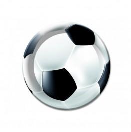 Talerzyki papierowe-Piłka Nożna-18cm 6 sztuk