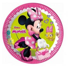 Talerzyki papierowe-Myszka Minnie-23cm 8 sztuk