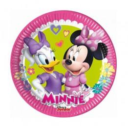 Talerzyki papierowe-Myszka Minnie-20cm 8 sztuk