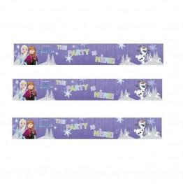 Bannery foliowe Frozen-3 sztuki-90x13cm