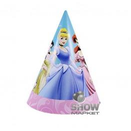 Czapeczki papierowe Princess-6 sztuk