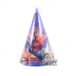 Czapeczki papierowe Spiderman-6 sztuk