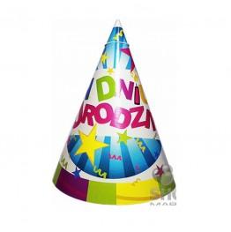 Czapeczki papierowe W Dniu Urodzin-6 sztuk