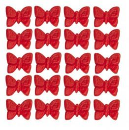 Motylki mini-czerwone-100 sztuk