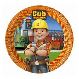Talerzyki papierowe-Bob Budowniczy-23cm-8 sztuk