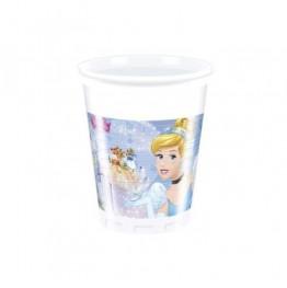 Kubeczki plastikowe Princess-Kopciuszek-8 sztuk