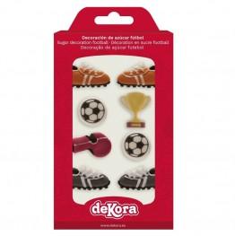 Zestaw piłkarski z cukru-Dekora-8 sztuk