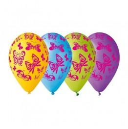 Balony lateksowe-Motyle-5 sztuk