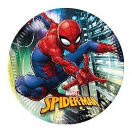 Talerzyki papierowe-Spiderman-23cm-8 sztuk