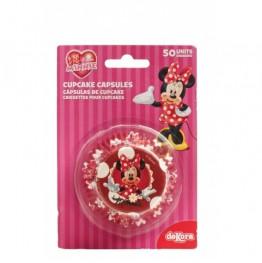 Papilotki na muffinki Myszka Minnie-50 sztuk
