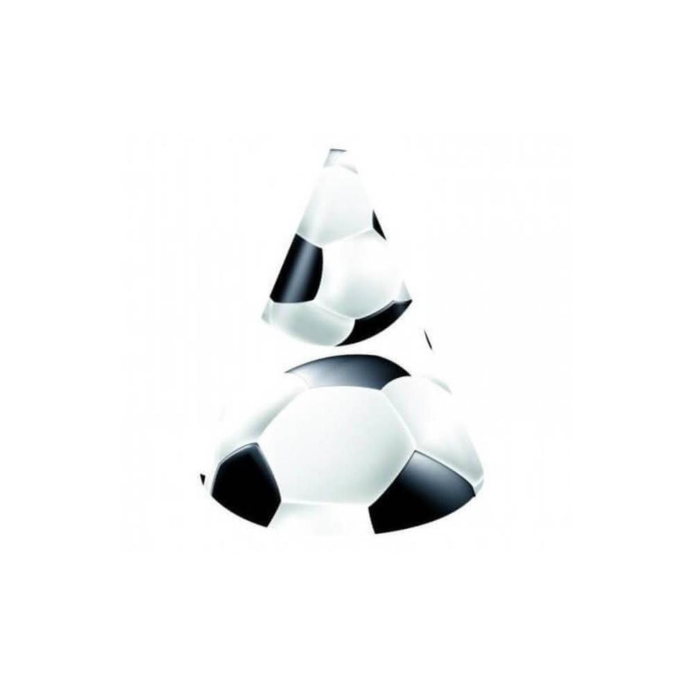 Czapeczki papierowe Piłka nożna-6 sztuk