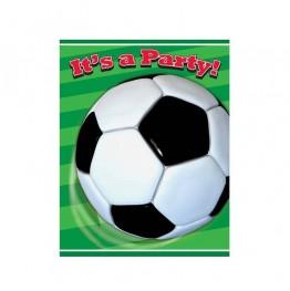 Zaproszenia urodzinowe Piłka nożna-8 sztuk