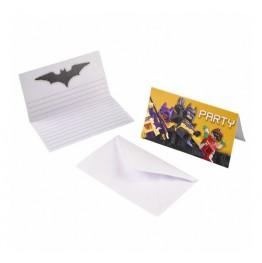 Zaproszenia urodzinowe Lego Batman-8 sztuk