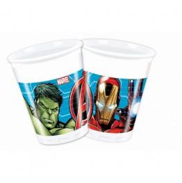 Kubeczki plastikowe Avengers-8 sztuk