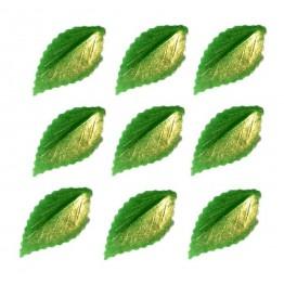 Listki z wafla zielone pozłacane-100 sztuk