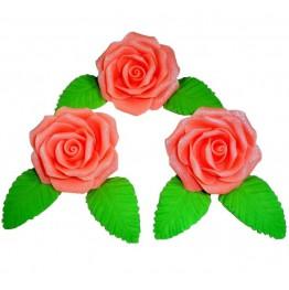Róże w zestawie Fantazja 3 łososiowe